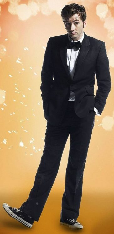 The 10th Doctor in a tuxedo.