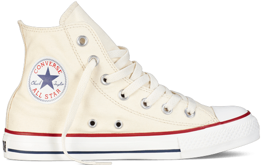 The 10th Doctor's Stylish Converse Chuck Taylors in off white.