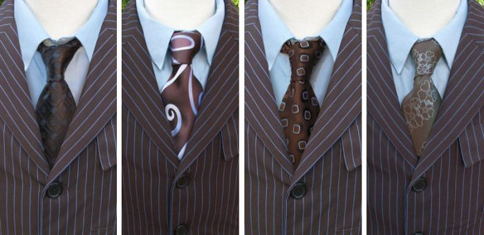 A collection of the 10th Doctor's ties.
