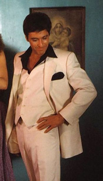 The Scarface white suit does not conform to the business formal dress code.