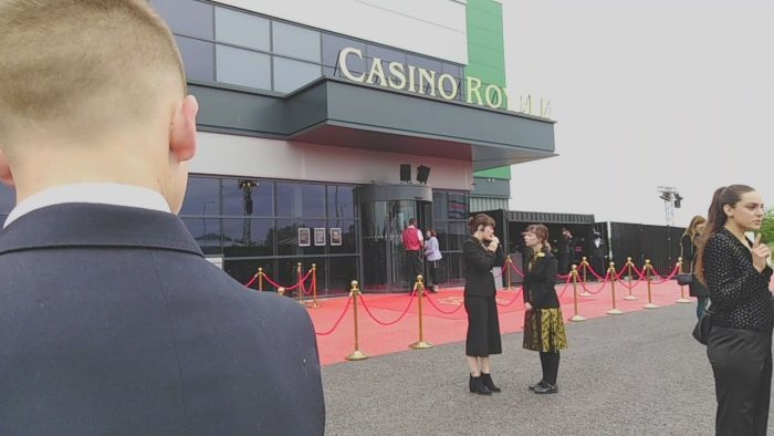 Secret Cinema Casino Royale Review front of house. James Bond has been here.