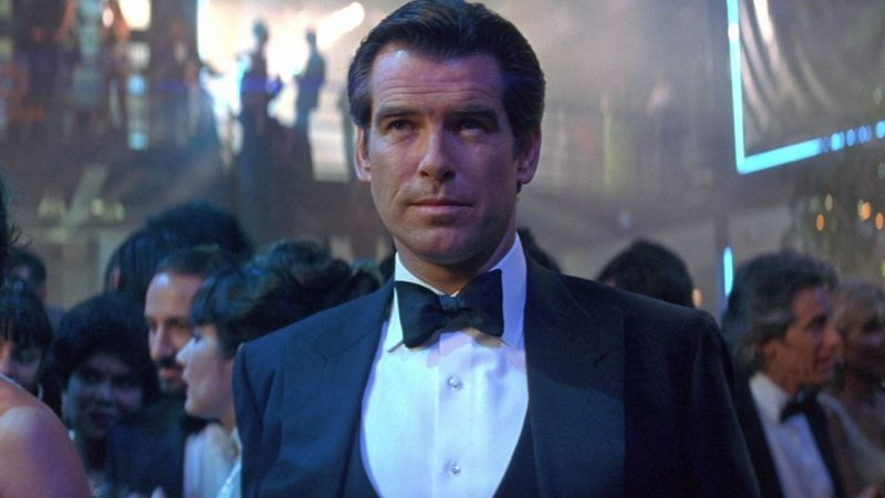 The marcella tuxedo shirt style in Tomorrow Never Dies.