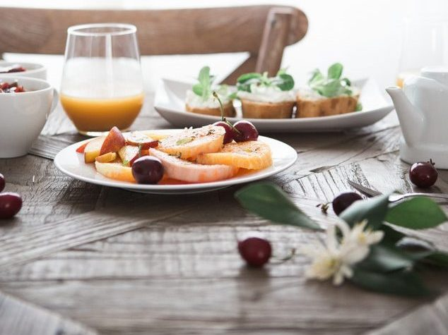 Tasty breakfast on the table is another reason why to wake up early.