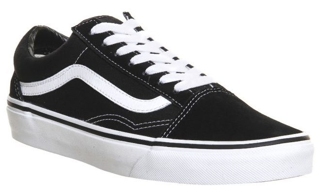 Vans Old Skool in black and white.