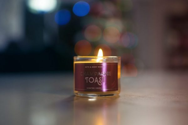 A scented candle.