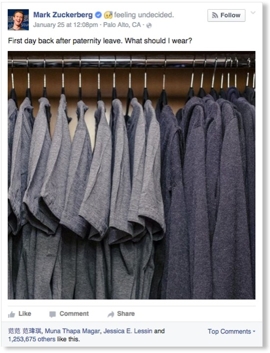 Mark Zuckerburg wardrobe.