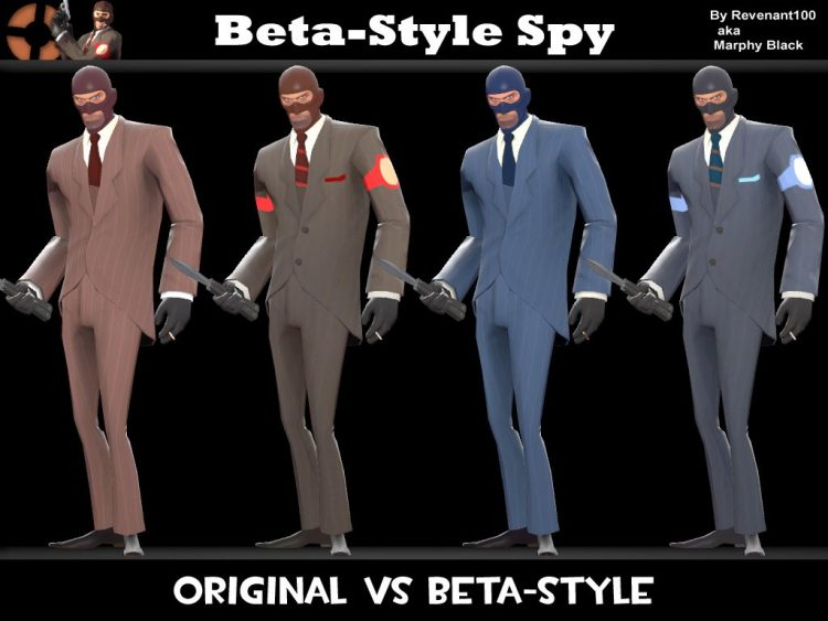 Team Fortress 2 The Spy Style changes.
