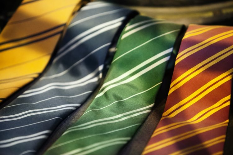 Collection of striped ties