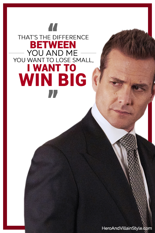 Harvey Specter quote on differences.