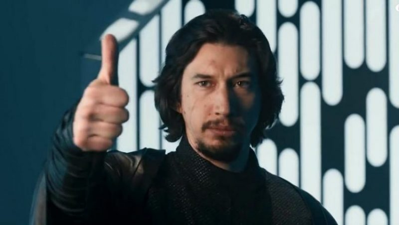 Ben Solo giving a thumbs up.