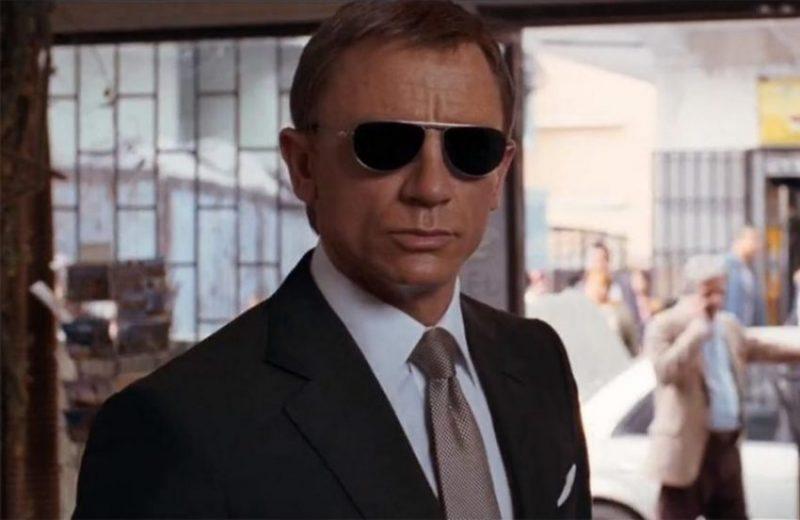 James Bond in his Quantum of Solace sunglasses.