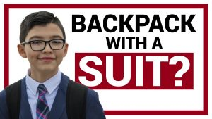 Can You Wear a Backpack With a Suit? (and HOW)