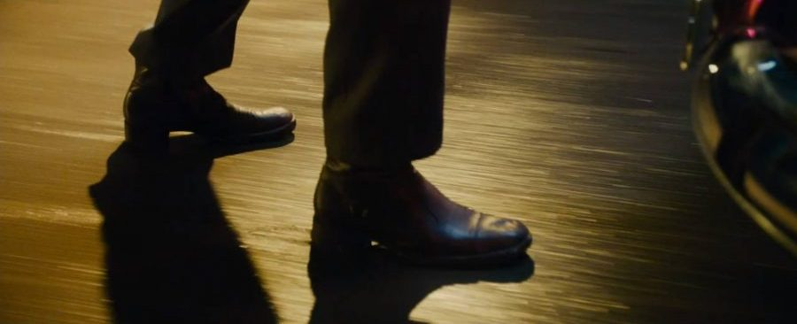 Oxblood boots as part of the Man From Uncle wardrobe