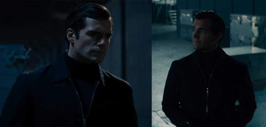 Napoleon Solo in a Harrington jacket and turtleneck.