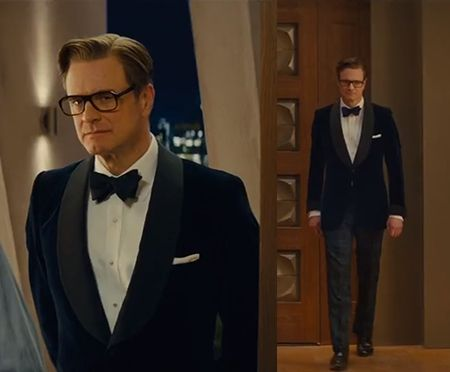 Whole view of Kingsman tuxedo style