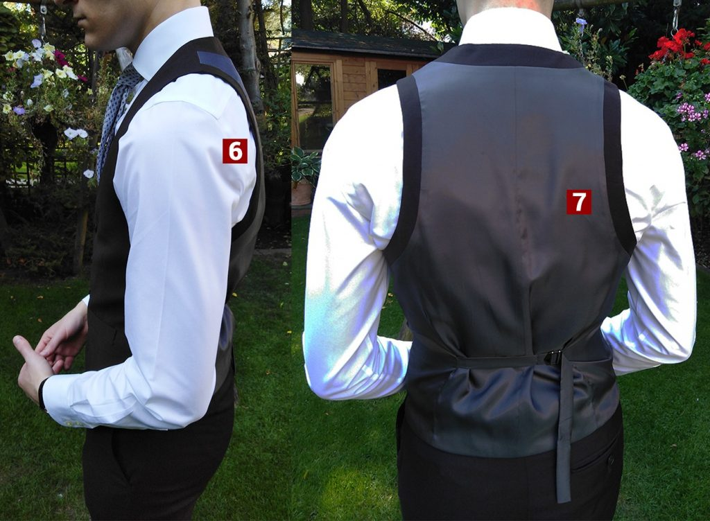 How should a waistcoat fit sides and back