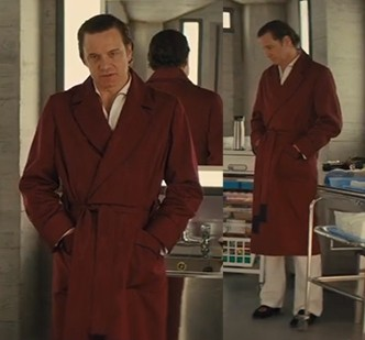 Burgundy Kingsman robe style in the Secret Service