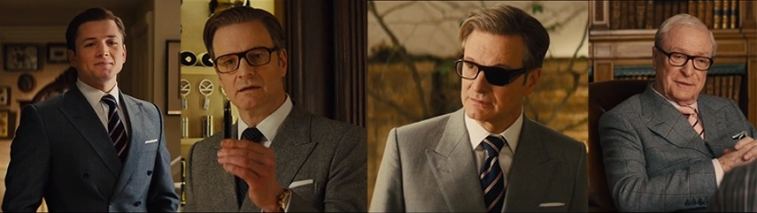 How to dress like a Kingsman suit collage