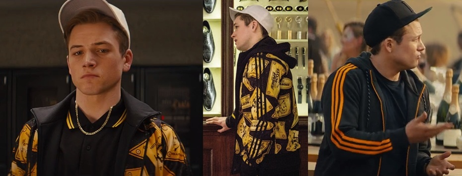 Eggsy's orange jackets