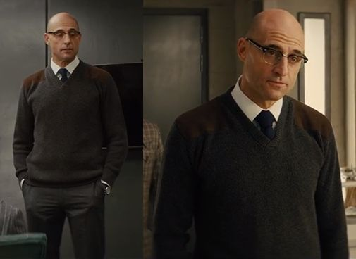 Mark Strong in a commando jumper