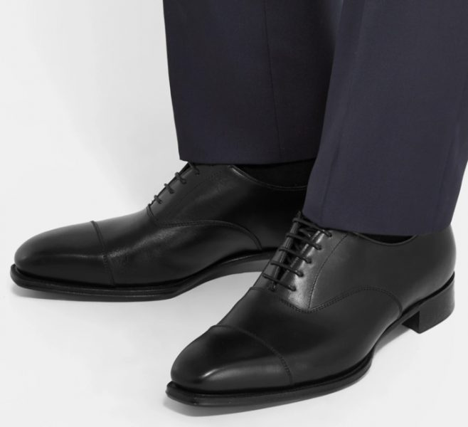 George Cleverly black toe capped oxfords