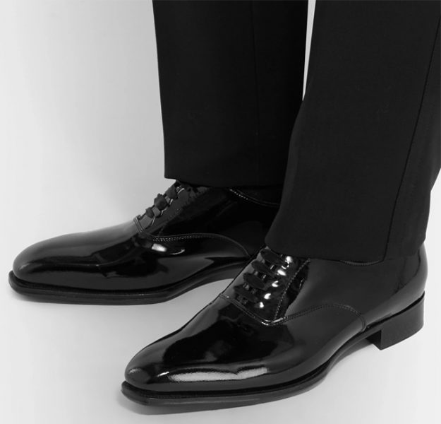 Kingsman tuxedo shoes with patent leather