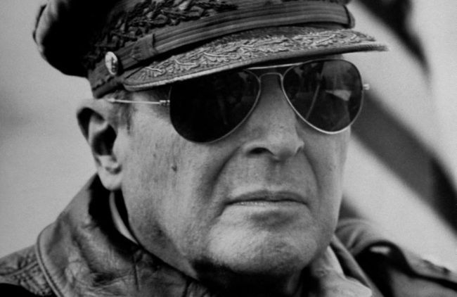 General Douglas MacArthur wearing Ray Ban aviators.