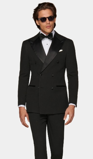 Double breasted tuxedo jacket style from Suitsupply