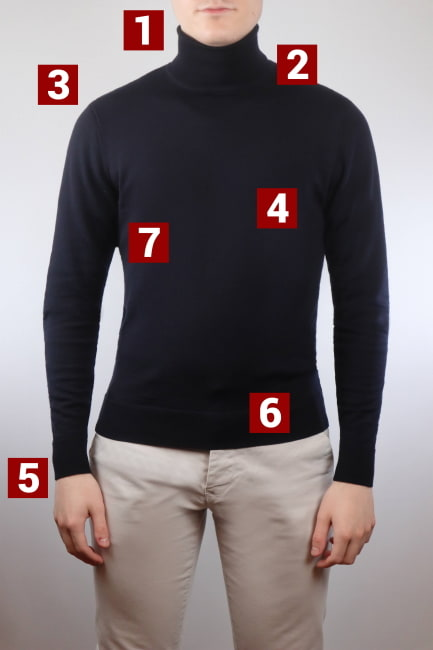 How should a roll neck fit graph