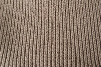 Ribbed roll neck fabric